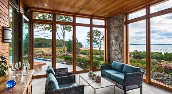 остекление веранды деревянными окнами
