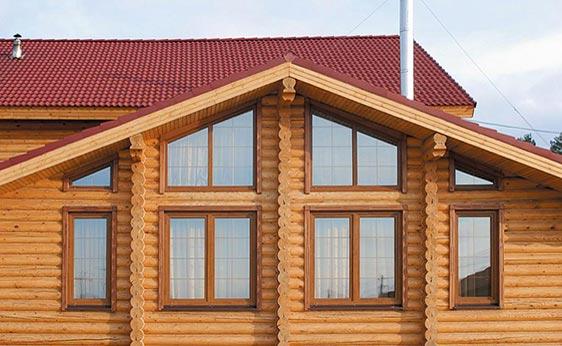 Деревянные окна для загородного дома