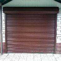 коричневые рольставни для гаража