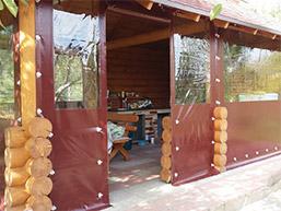 Мягкие окна на летнюю кухню