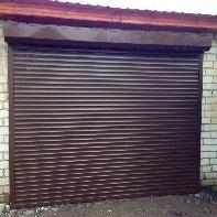 рольставни в гараж коричневые