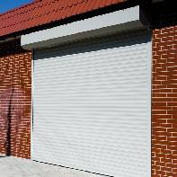серые рольставни в гараж