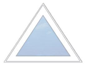 треугольное глухое окно